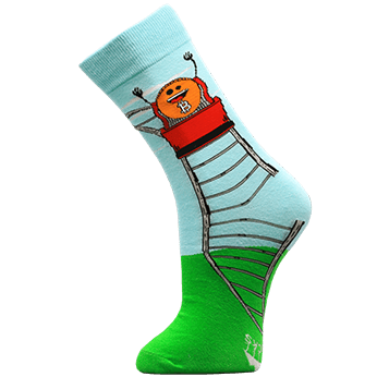 Image of Roller Coaster Guy sock