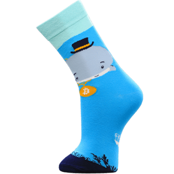 Image of Bitcoin Whale sock