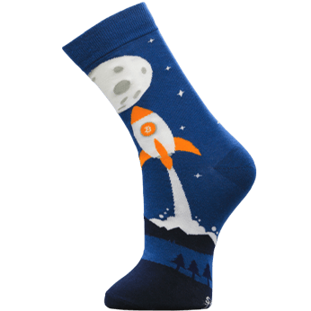Image of Rocket to the Moon sock