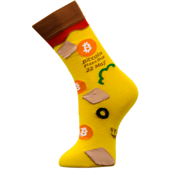 Image of Bitcoin Pizza Day sock