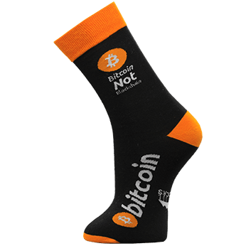 Image of Bitcoin Not Blockchain sock